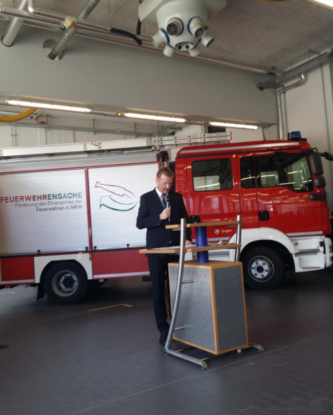 Innenminister Ralf Jäger bei der Feuer(w)ehrensache