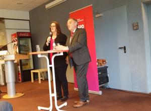 Kerstin Griese MdB und Finanzminister Norbert Walter-Borjans diskutieren die Panama Papers