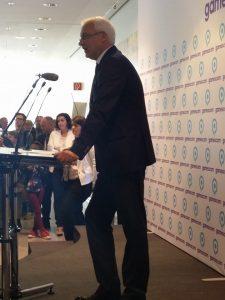 Minister Garrelt Duin eröffnet die Gamescom in Köln