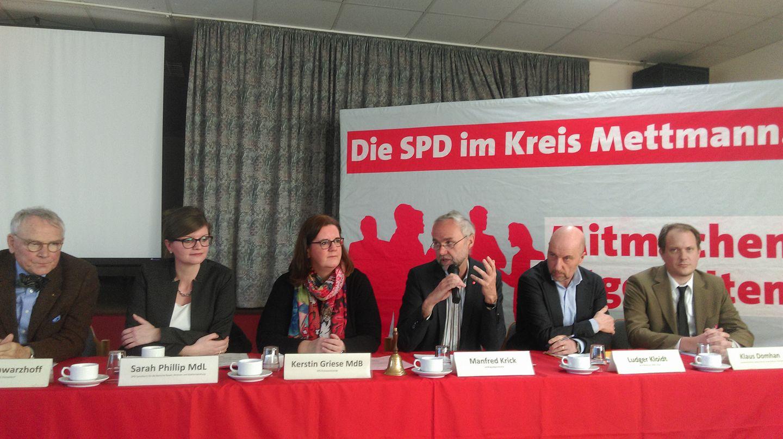 Veranstaltung der Kreis SPD zum Thema Wohnen und Stadtentwicklung im Kreis Mettmann