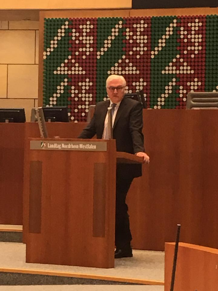 Vorstellung von Frank-Walter Steinmeier im Plenarsaal des Landtags