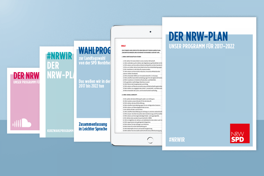 Der NRW Plan - unser Programm für 2017 bis 2022