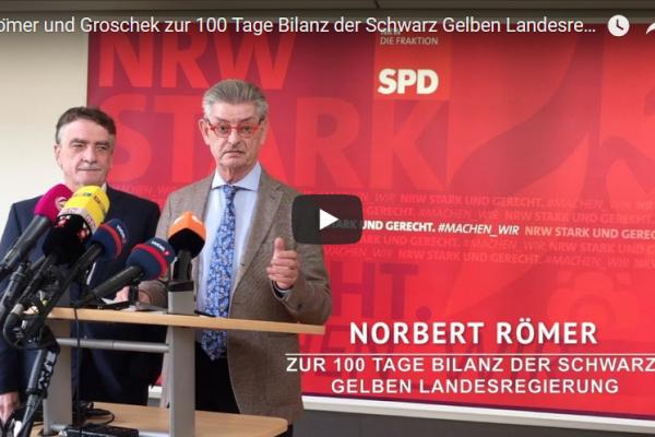 """""""Wortbrüchig, selbstgerecht und ungerecht"""" - Norbert Römer & Mike Groschek im Pressestatement"""