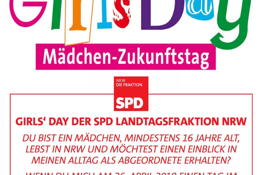 GirlsDay 2018, Girls Day, SPD-Fraktion, SPD, SPD-Landtagsfrkation